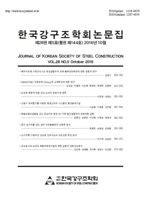 한국강구조학회 논문집<br> 2016년 10월호